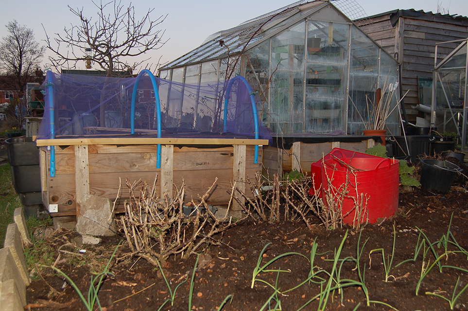 Wharncliffe Allotments Plot No10 Raised Bed and Greenhouse
