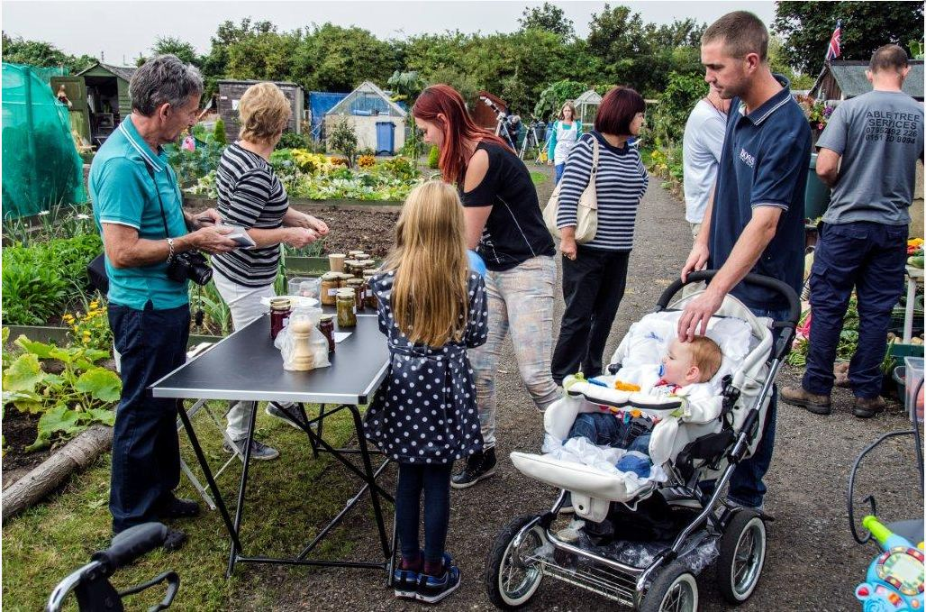 Table Sale jams and chutney at Wharncliffe Allotments Open Day