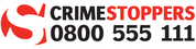 Crime Stoppers Logo and telephone number 0800555111