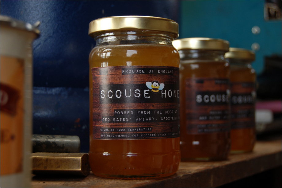 Jars of Scouse Honey Co. Honey