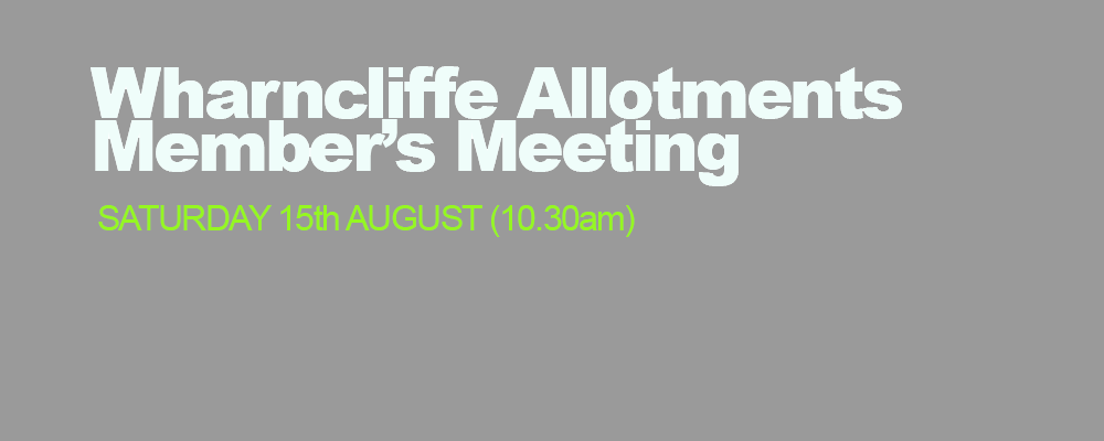 Wharcliffe Allotment Members Notice